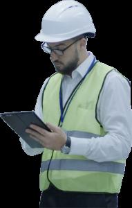 Audit sur tablette par un opérateur terrain